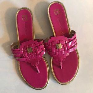 Anne Klein Hot Pink Sanals